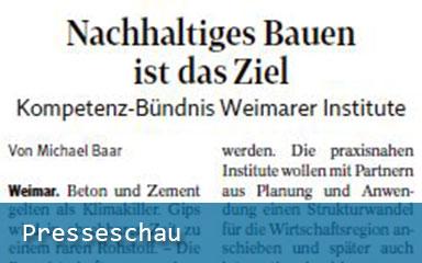"Bild Banner Presseschau IAB Weimar ""renatBAU"""