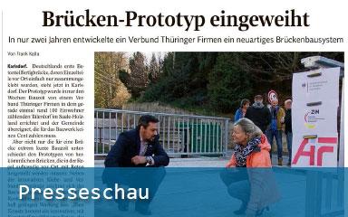 Bild IAB-Presseschau Brücken-Prototyp eingeweiht
