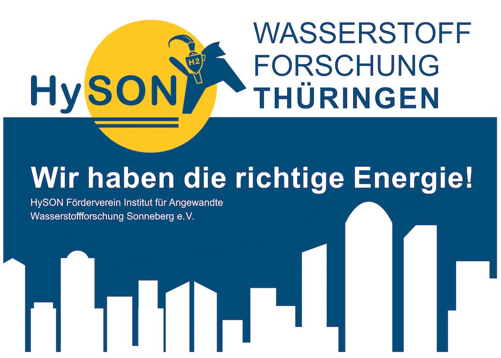 Bild HySON Banner Wasserstoff Forschung Thüringen