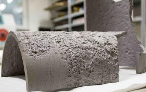 Bild Metallrohrprobe nach der Sandstrahlung