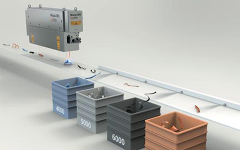 Bild Gerät zur laserbasierten Sortierung von Restbaustoffen von SECOPTA