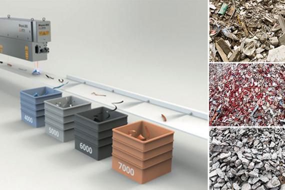 Bild Laserbasierte Sortiermaschine und Arten von Bau- und Abbruchabfällen