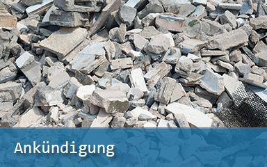 Bild Ankünidung RIS3-Forum Ressourceneffizienz Baustoffrecycling