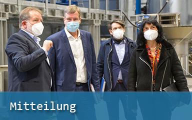 Bild Dr. Ulrich Palzer mit Carsten Feller, Robert Fetter und Dr. Barbara Leydolph