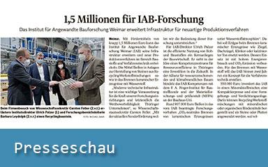 Bild Presseartikel zum IAB Weimar