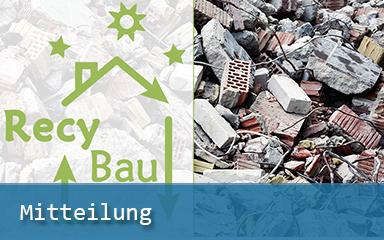 Bild IAB-Mitteilungen Logo Recybau Bauschutt