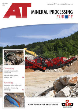 Bild Cover AT Mineral Processing Ausgabe 05/2021
