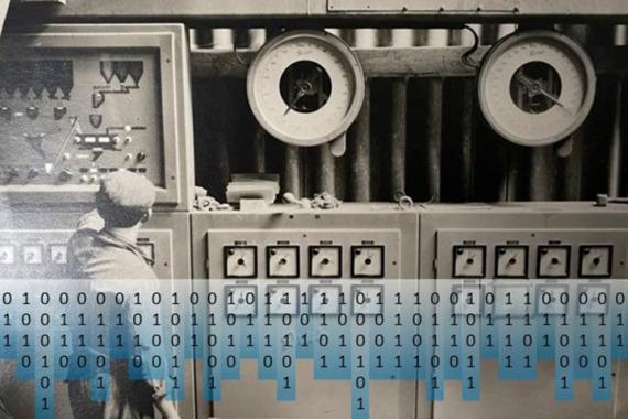 Bild Bedienung einer Maschine im Werk