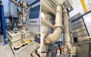 Bild Anlage für thermische Nachverbrennung und Rauchgasentschwefelung am IAB Weimar