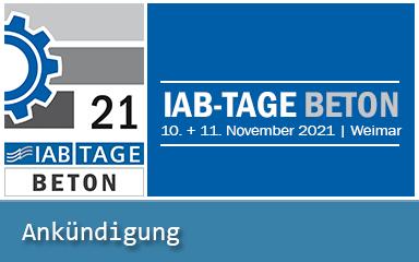 Bild IAB-Ankündigung IAB-TAGE BETON 2021 in Weimar